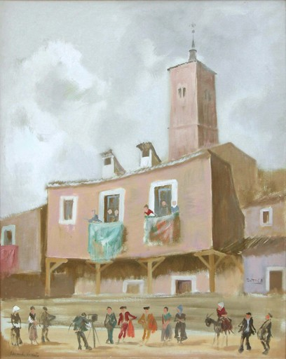 Eduardo VICENTE - Painting - Posando para el fotógrafo