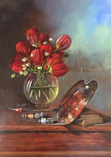 Dusan-Dusko JOVANOVIC - Painting - Favolosa rosa