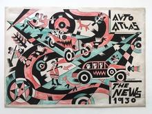 Fortunato DEPERO - Painting - AUTO ATLAS THE NEW 1930