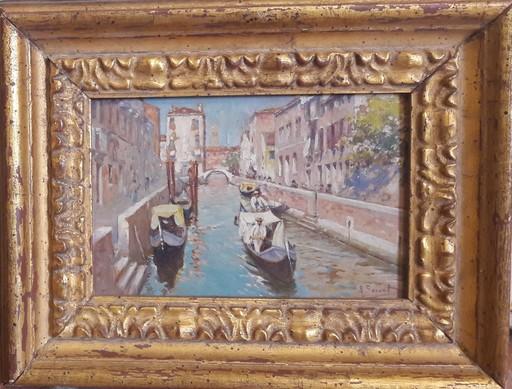 Rafael SENET Y PÉREZ - Painting - CANAL DE VENECIA