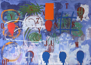 Mimmo PALADINO - Gemälde - Quadro Africano                           .