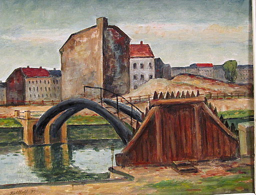 Walter KOHLHOFF - Pittura - Berliner Kanal mit Brücke