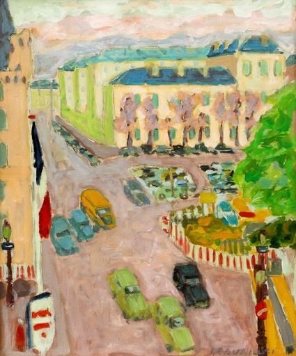 Jules CAVAILLES - Painting - Les quais, Paris