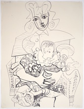Pablo PICASSO - Estampe-Multiple - Ines et son Enfant