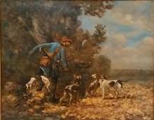 Jules Jacques VEYRASSAT - Pintura - Le chasseur