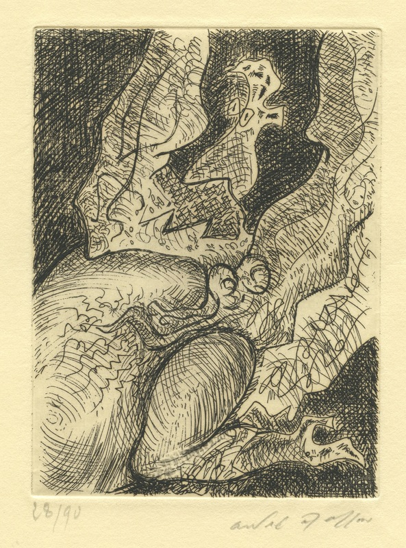 André MASSON - Stampa-Multiplo - GRAVURE SIGNEE CRAYON NUM/90 HANDSIGNED NUMB/90 ETCHING
