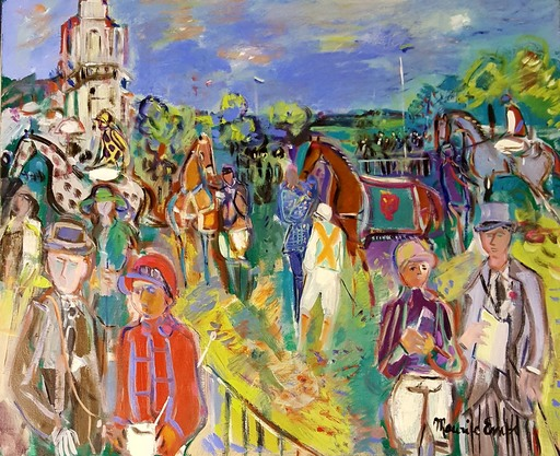 Maurice EMPI - Painting - CHAMPS DE COURSE