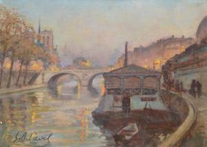 Elie Anatole PAVIL - Painting - Paris view