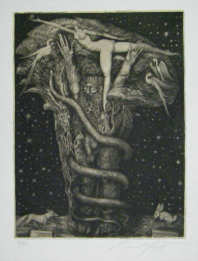 Ernst FUCHS - Print-Multiple - Adams Traum