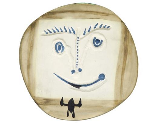 巴勃罗•毕加索 - 陶瓷  - Visage à la cravate