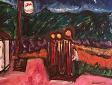 Christian DURIAUD - Pintura - Mobil (hommage à Hopper)