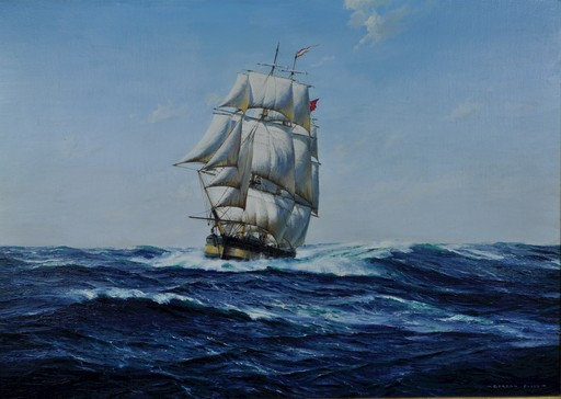 "Gordon ELLIS - Painting - The Liverpool whaler ""Golden Lion"""
