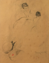 Louis ICART - Drawing-Watercolor - Studi di figure femminili