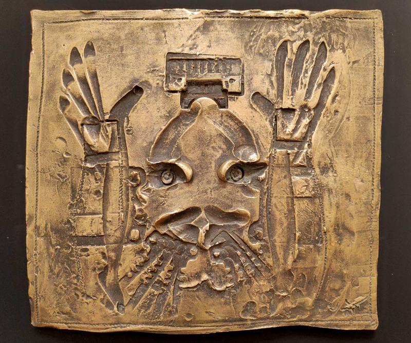 Roberto MATTA - Escultura - Bronze relief