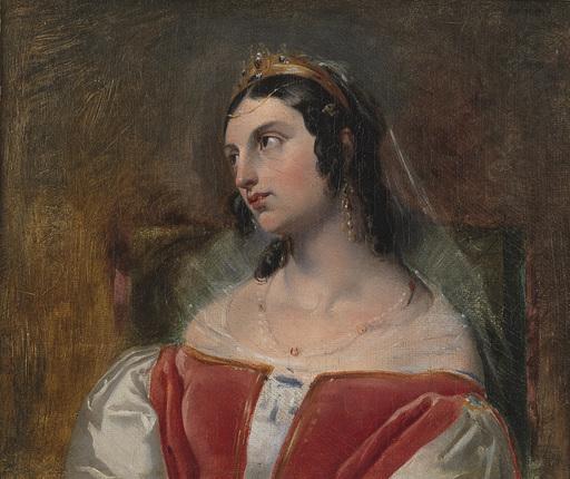 Francesco PODESTI - Pintura - Studio per la testa di Eleonora d'Este