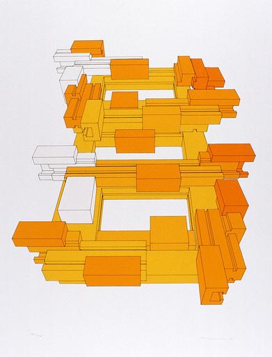 Utz KAMPMANN - Estampe-Multiple - 71-2 Skizze zu einer automobilen Skulptur