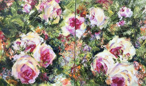 Diana MALIVANI - Gemälde - Roses. Diptych