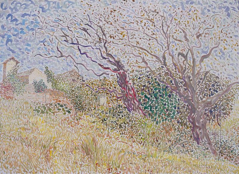 MAO Xuhui - Painting - Walnut Tree On The Hill