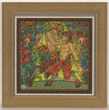 """Alfred WAAGNER - Disegno Acquarello - """"Fauns and elves"""", watercolor, 1910s"""