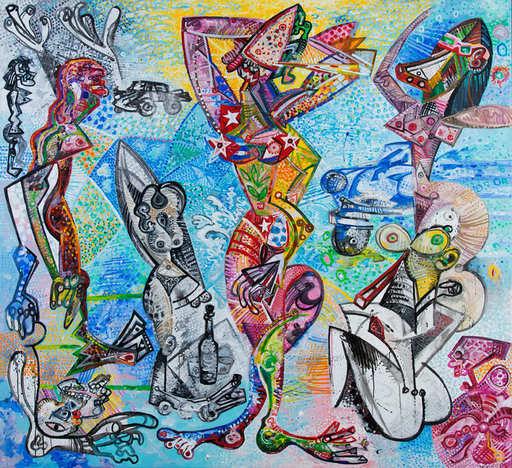 Carlos BOIX - Painting - Les Demoiselles de La Havane