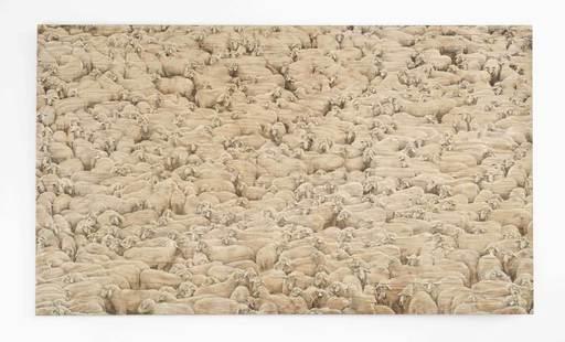 Christoph POGGELER - Peinture - Schafe können sicher weiden