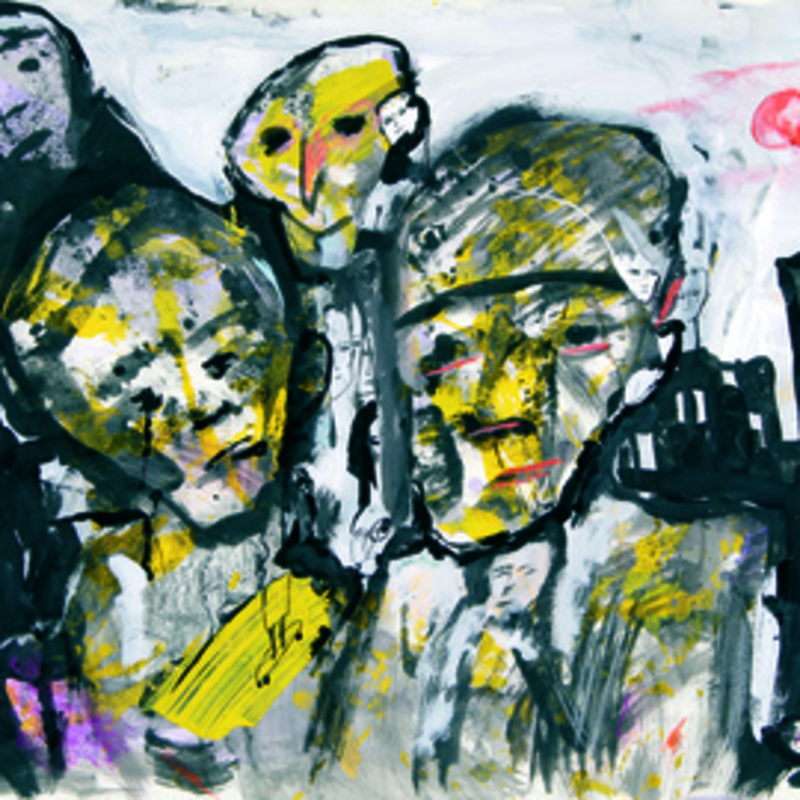 Zvi MILSHTEIN - Painting - carnaval