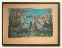 Edouard Georges MACAVOY - Print-Multiple - Paris au fil de la seine