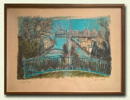 Edouard Georges MACAVOY - Estampe-Multiple - Paris au fil de la seine