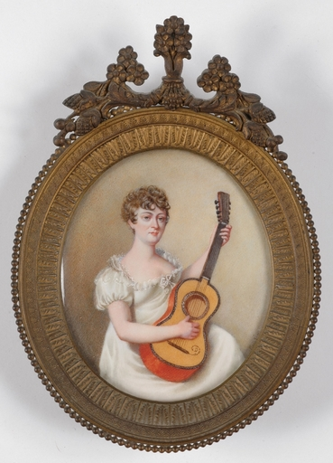 "André Léon MANSION - Miniature - ""Mme Catalani"", Portrait Miniature, Early 19th century"