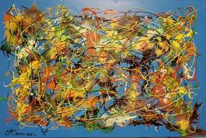 Romeo DOBROTA - Painting - Blue period
