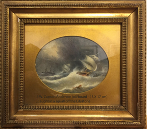 J.W., Captain ANDERSON - Peinture - Caught in a squall off the Edystone
