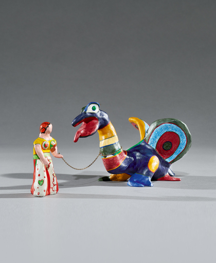 Niki DE SAINT-PHALLE - Sculpture-Volume - La Force - The Lady and the Dragon