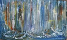 POUCETTE - Painting - Bateaux au port