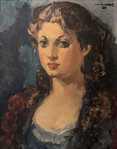 Pere CREIXAMS PICO - Painting - La jolie espagnole