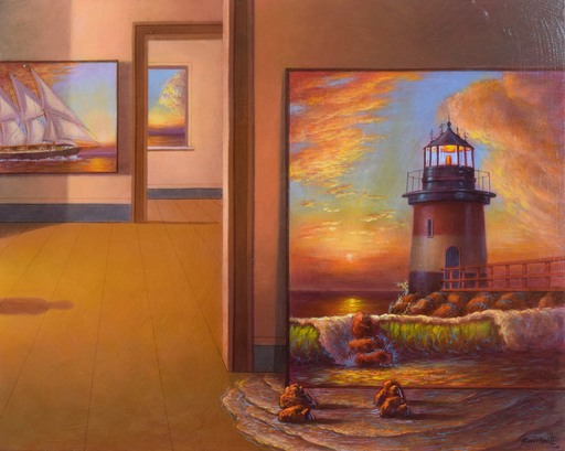 Antonio NUNZIANTE - Pintura - Il rumore del mare