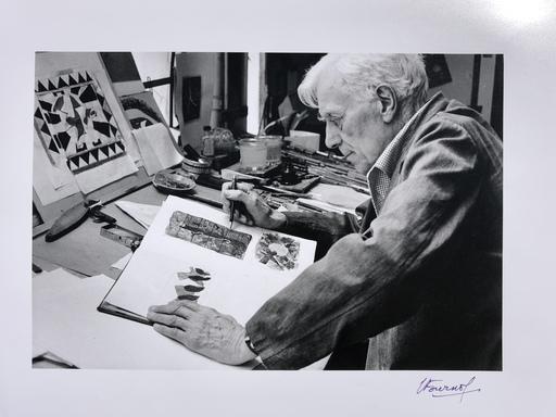Luc FOURNOL - Fotografia - Georges braque dans son atelier