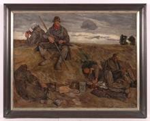 "Benjamin STRASSER - Painting - ""Germans in the World War I"""