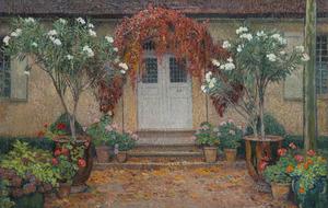 Henri MARTIN - Painting - Automne, L'entrée principale de Marquayrol