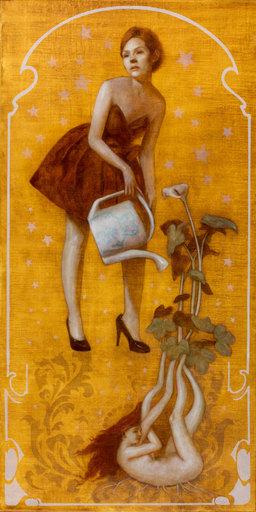 Deirdre SULLIVAN-BEEMAN - Painting - Watering Can Girl