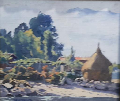 Abelardo BUSTAMANTE ALVARADO - Painting - paisaje con palleiro