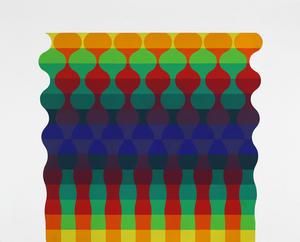 Julio LE PARC - Pittura - Ondes 122 serie 12 no. 1