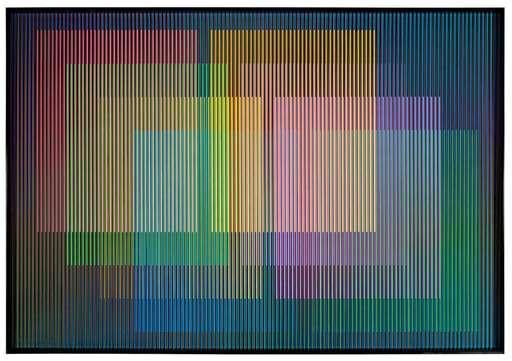 Carlos CRUZ-DIEZ - Peinture - Cromointerferencia Espacial 51