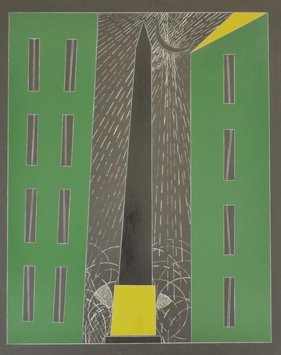 Franco ANGELI - Painting - NOTTURNO ROMANO