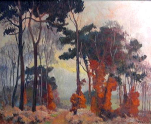 Albert MALET - Pintura - Foret en Automn