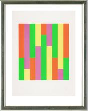 Max BILL - Estampe-Multiple - Quadrat mit vertikalen Streifen