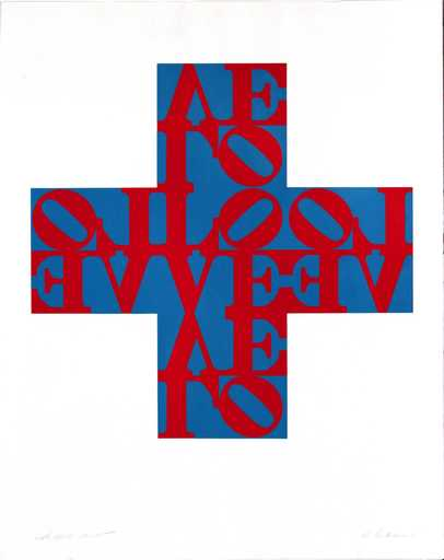Robert INDIANA - Grabado - Love Cross