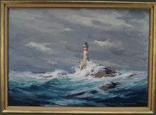 Robert WERNER - Painting - Phare de Bazt