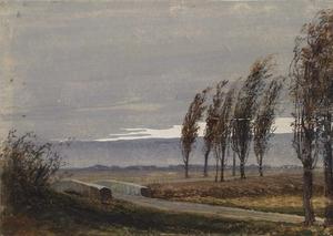"Caspar NEHER - Drawing-Watercolor - ""Autumn"" by Berthold Brecht's Assistant Caspar Neher,ca 1930"