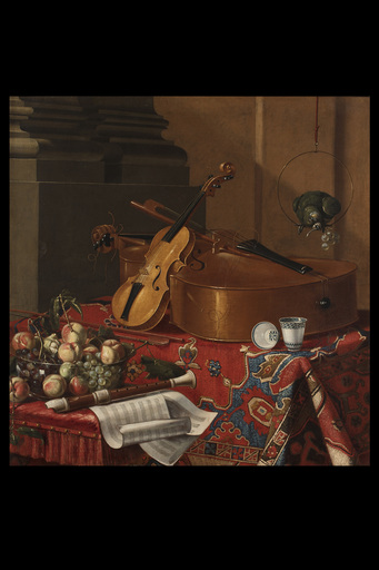 Cristoforo MUNARI - Painting - Still life with musical instruments