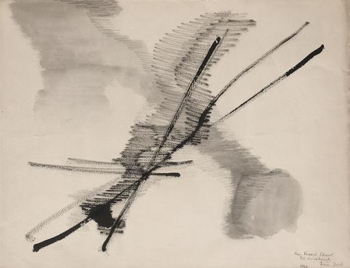 Irène ZACK - Zeichnung Aquarell - Composition